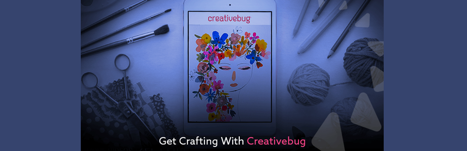 Crafty? Try Creativebug- it's free, courtesy of PCDL!