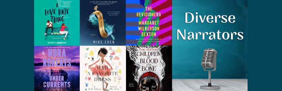 Audiobooks with diverse narrators from Hoopla!