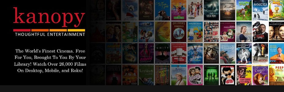 Stream free cinema now with Kanopy!